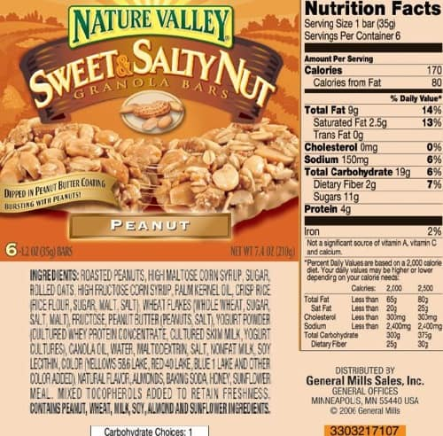 Nature Valley granola bars aren't as Natural as they ... Quaker Granola Bars Nutrition Facts
