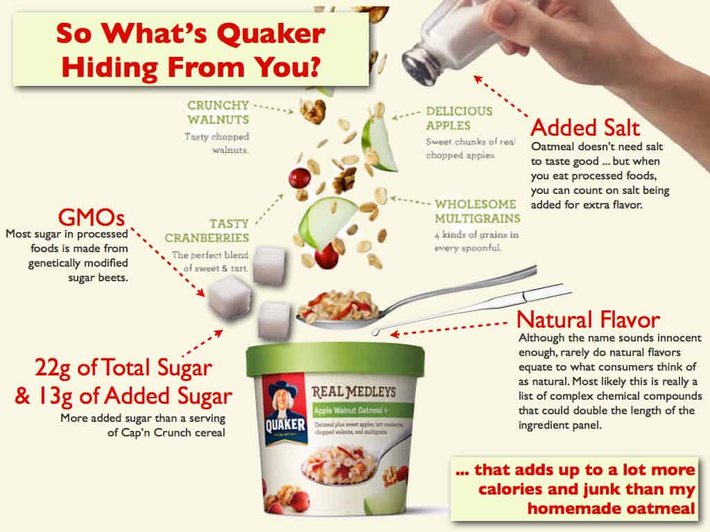 So What's Quaker Hiding From You in their Real Medleys Oatmeal?