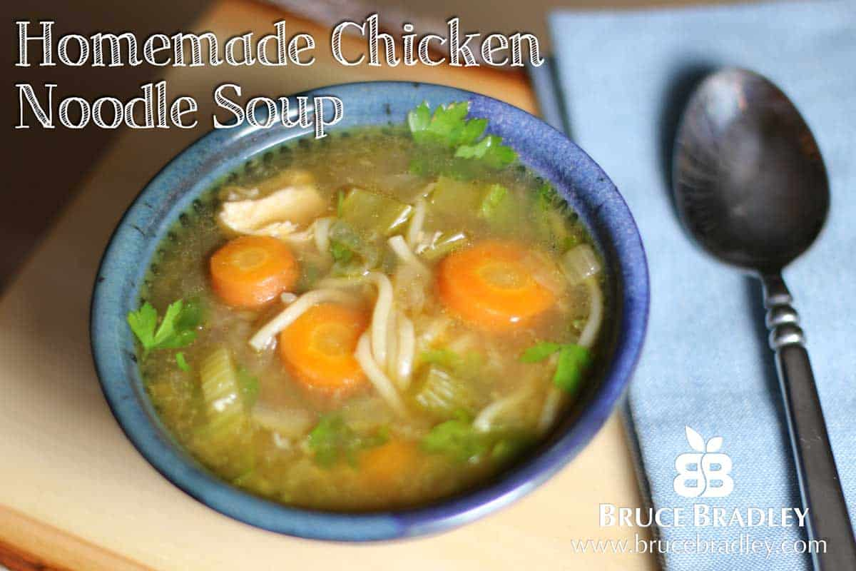Recipe: Homemade Chicken Noodle Soup and Chicken Broth