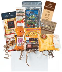 last minute real food gift ideas: organic gift basket