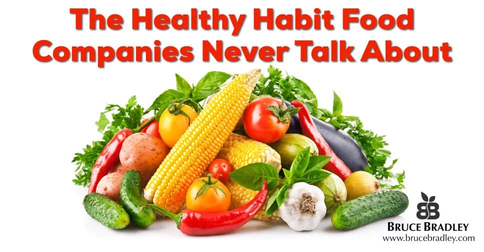 Why do food companies ignore real vegetables in their healthy diet advice?