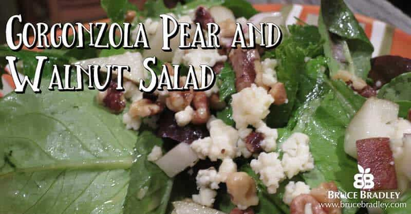 Here's a delicious recipe for Gorgonzola Pear and Walnut Salad!