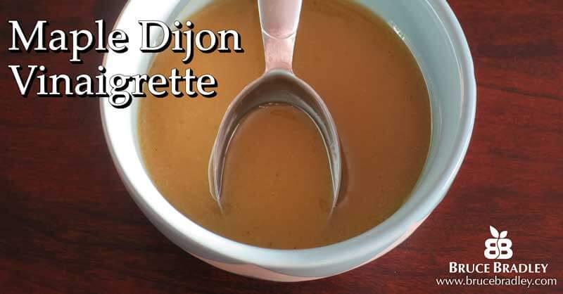 Recipes: Maple Dijon Vinaigrette and Gorgonzola Pear Salad for Two
