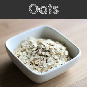 Oats grains