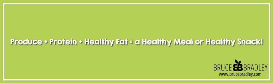 Produce, Protein, and Healthy Fats combine together to create Healthy Meals and Snacks!