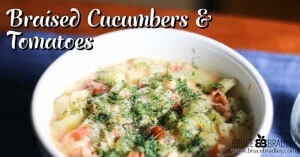 Cucumbers and tomatoes can make a whole lot more than a nice salad! Check this delicious recipe out!