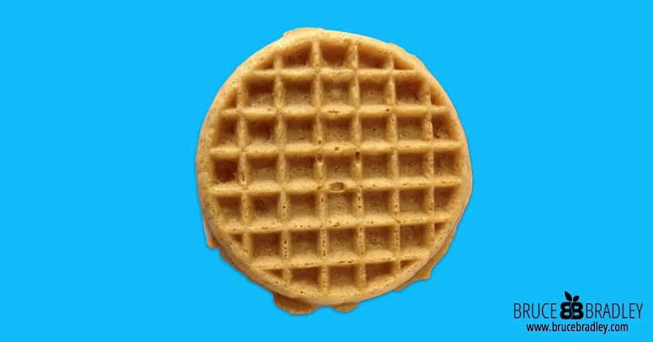 "Are frozen waffles or dry waffle mix a great choice for breakfast? Probably not. In fact, perhaps we should listen to the old television ad more literally and ""Leggo my Eggo."""