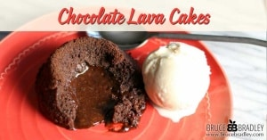 """Looking for a delicious way to say """"yes"""" to a special occasion treat without having to spend hours in the kitchen or buy some highly processed, store-bought cake? Then try these simple, easy, and yummy Chocolate Lava Cakes!"""