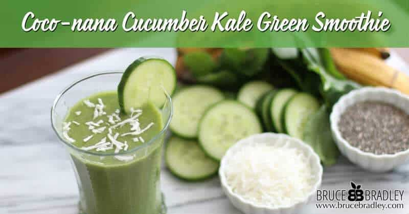 Recipe: Coco-nana Cucumber Kale Green Smoothie