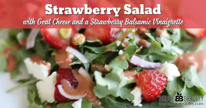 Recipe: Strawberry Salad with Goat Cheese and Pistachios