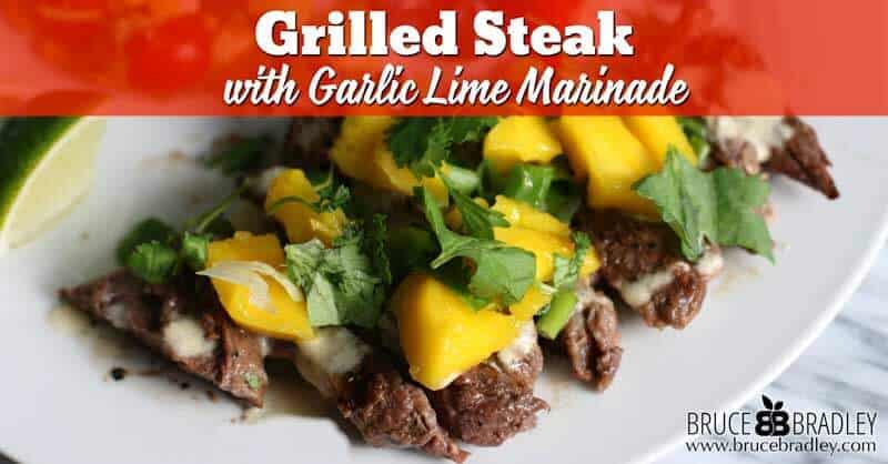 Recipe: Grilled Steak with Garlic Lime Marinade