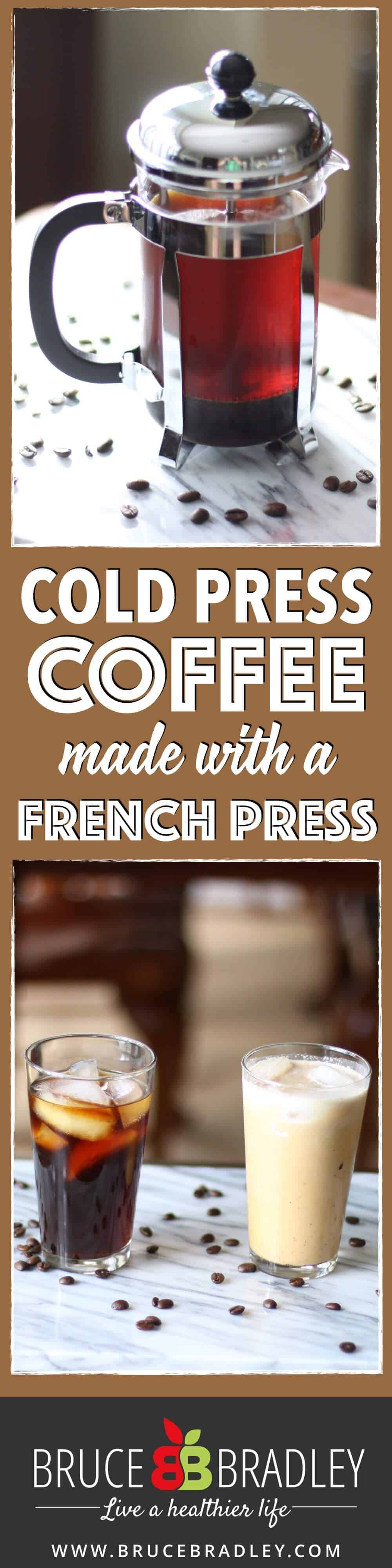 Cold Press Coffee is a deliciously cool way to enjoy coffee that's naturally sweeter and a little more caffeinated. Now you can enjoy the great flavor of cold press coffee at home using a French press!