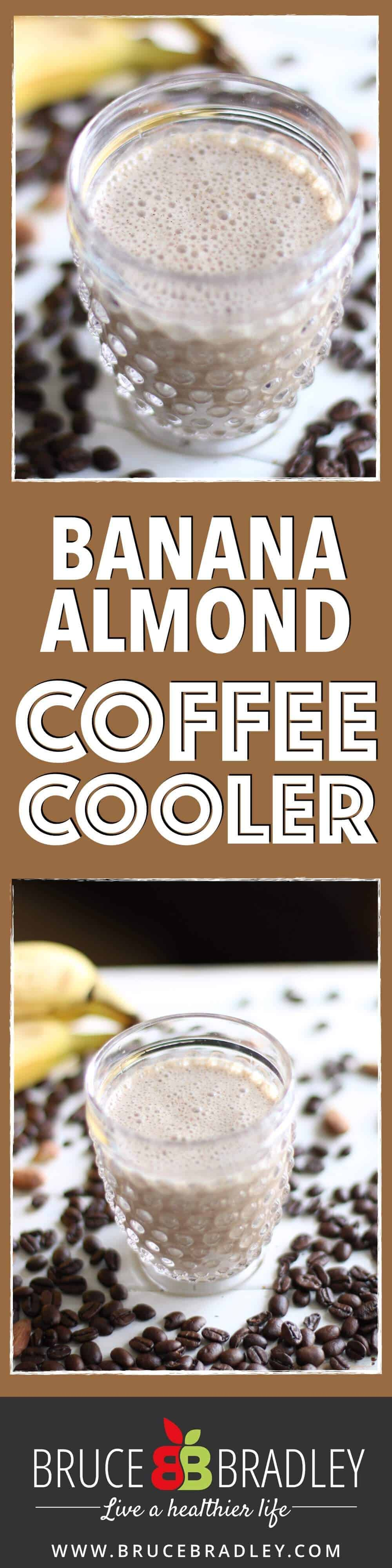 This Banana Almond Coffee Cooler is the perfect summer drink to cool you down, and it's made with real ingredients and no added sugars!