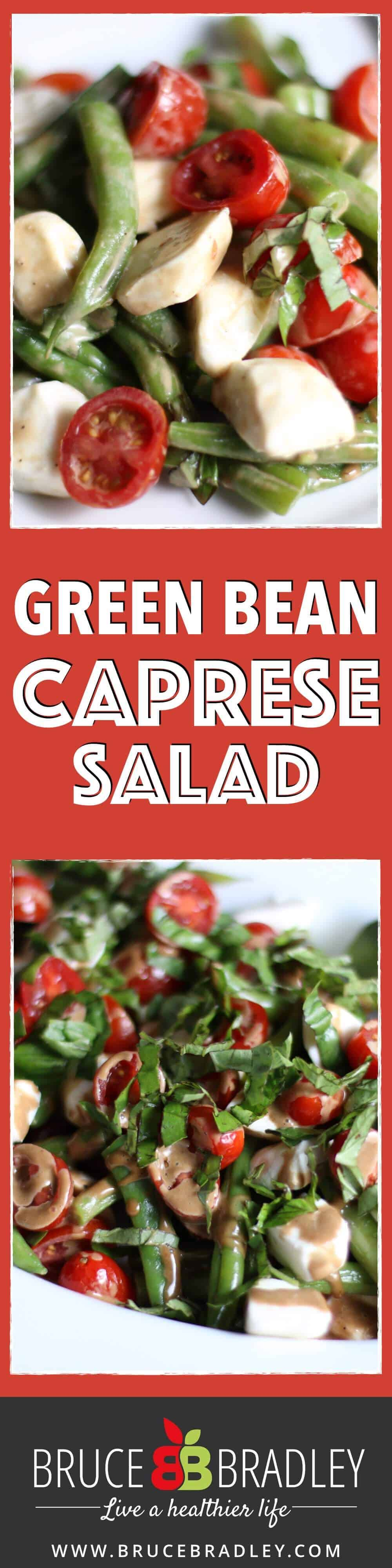 Green Bean Caprese Salad is a fantastic hot or cold salad made with green beans, tomatoes, fresh mozzarella, basil, and a creamy balsamic vinaigrette!