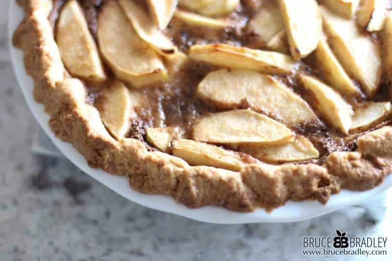 "A delicious ""open face"" single crust apple pie that's super easy to make and even better the next day!"